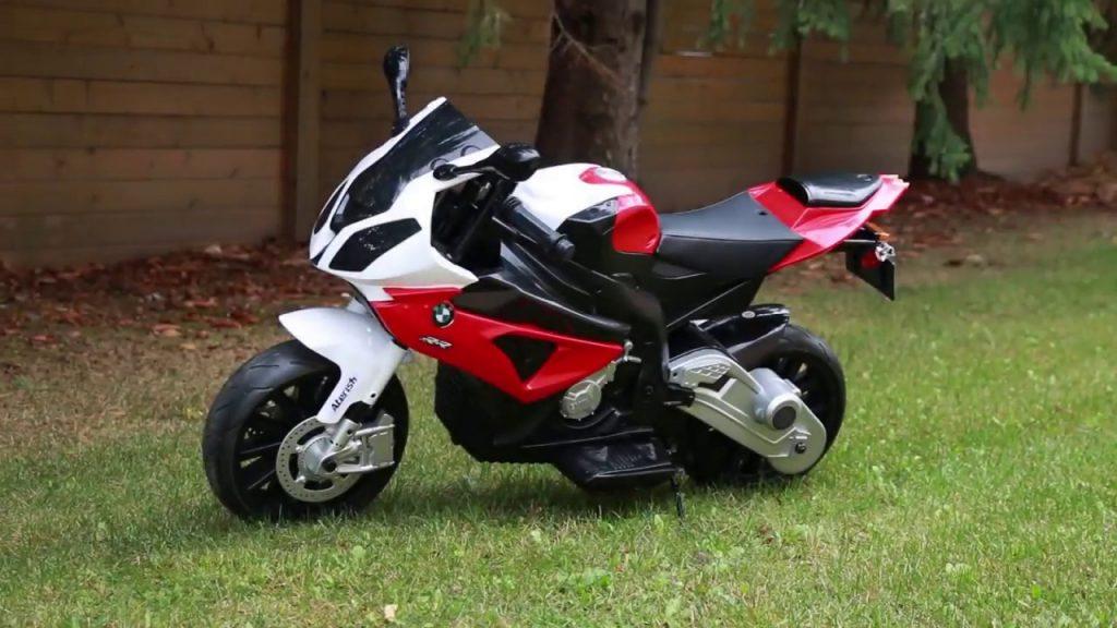 MOTO MOTOCICLETTA ELETTRICA PER BAMBINI MODELLO Bmw 12v CON ROTELLE